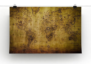 old map Canvas Print or Poster - Canvas Art Rocks - 2
