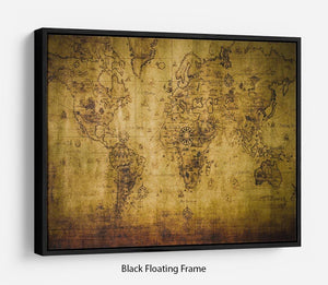 old map Floating Frame Canvas