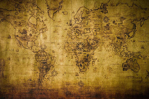 old map Wall Mural Wallpaper - Canvas Art Rocks - 1