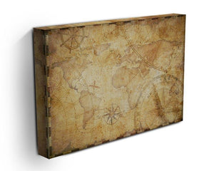 old nautical treasure map illustration Canvas Print or Poster - Canvas Art Rocks - 3