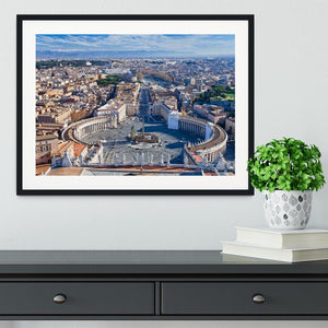 panorama of St.Peter Square Framed Print - Canvas Art Rocks - 1