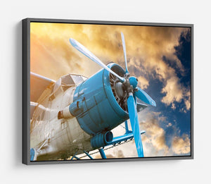 plane with propeller HD Metal Print