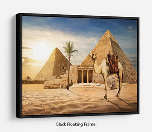 pyramid of Cheops Floating Frame Canvas
