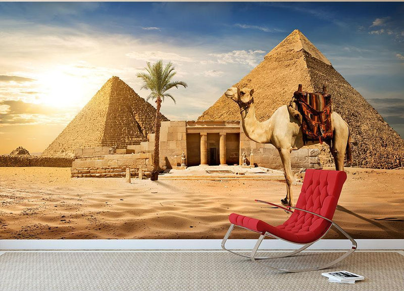 pyramid of Cheops Wall Mural Wallpaper - Canvas Art Rocks - 1