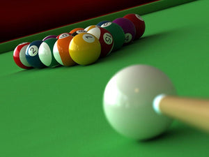 render of billiard Wall Mural Wallpaper - Canvas Art Rocks - 1