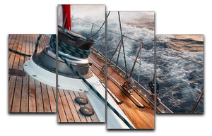 sail boat under the storm 4 Split Panel Canvas  - Canvas Art Rocks - 1