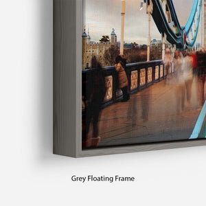 slow shutter speed Tower Bridge Floating Frame Canvas