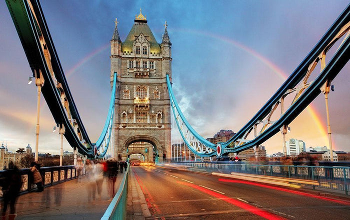 slow shutter speed Tower Bridge Wall Mural Wallpaper