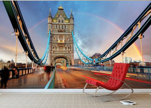 slow shutter speed Tower Bridge Wall Mural Wallpaper - Canvas Art Rocks - 2