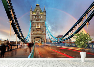 slow shutter speed Tower Bridge Wall Mural Wallpaper - Canvas Art Rocks - 4