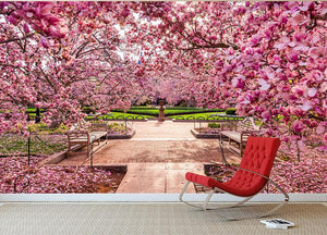 spring foliage near the National Mall Wall Mural Wallpaper - Canvas Art Rocks - 2