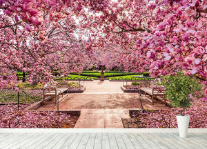 spring foliage near the National Mall Wall Mural Wallpaper - Canvas Art Rocks - 4