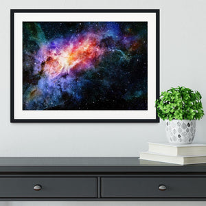starry deep outer space nebula and galaxy Framed Print - Canvas Art Rocks - 1