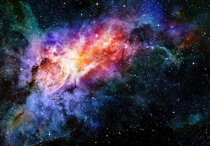 starry deep outer space nebula and galaxy Wall Mural Wallpaper
