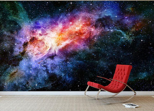 starry deep outer space nebula and galaxy Wall Mural Wallpaper - Canvas Art Rocks - 2