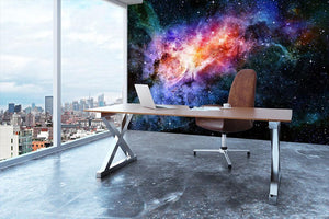 starry deep outer space nebula and galaxy Wall Mural Wallpaper - Canvas Art Rocks - 3