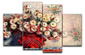 still life chrysanthemums 4 Split Panel Canvas  - Canvas Art Rocks - 1