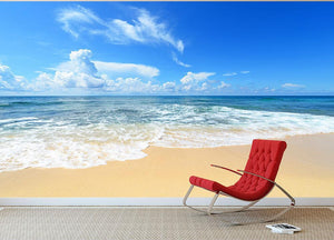 summer sky of Okinawa Wall Mural Wallpaper - Canvas Art Rocks - 2