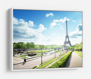 sunny morning and Eiffel Towe HD Metal Print