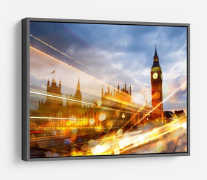 sunset Big Ben and houses of Parliament HD Metal Print