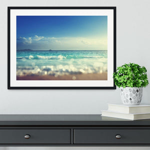 sunset time tilt shift soft Framed Print - Canvas Art Rocks - 1