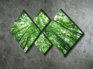 trees meeting eachother at the sky 4 Square Multi Panel Canvas  - Canvas Art Rocks - 2