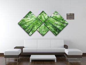 trees meeting eachother at the sky 4 Square Multi Panel Canvas  - Canvas Art Rocks - 3