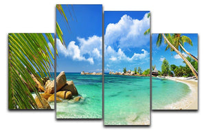 tropical paradise 4 Split Panel Canvas - Canvas Art Rocks - 1