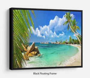 tropical paradise Floating Frame Canvas - Canvas Art Rocks - 1
