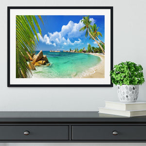 tropical paradise Framed Print - Canvas Art Rocks - 1