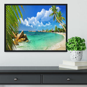 tropical paradise Framed Print - Canvas Art Rocks - 2