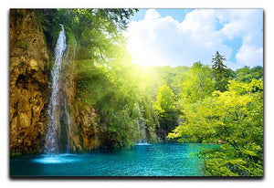 waterfalls in deep forest Canvas Print or Poster - Canvas Art Rocks - 1