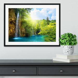 waterfalls in deep forest Framed Print - Canvas Art Rocks - 1