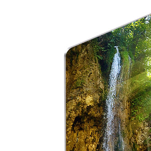 waterfalls in deep forest HD Metal Print - Canvas Art Rocks - 4