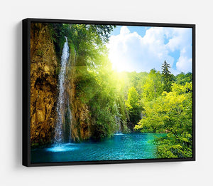 waterfalls in deep forest HD Metal Print - Canvas Art Rocks - 6