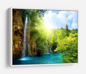 waterfalls in deep forest HD Metal Print - Canvas Art Rocks - 7