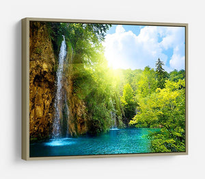 waterfalls in deep forest HD Metal Print - Canvas Art Rocks - 8