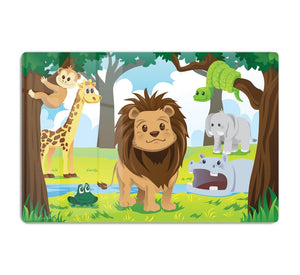 wild jungle animals in the animal kingdom HD Metal Print