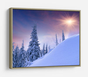 winter landscape in the mountains HD Metal Print