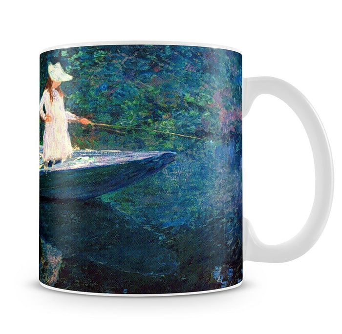 women fishing by Monet Mug