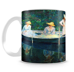 women fishing by Monet Mug - Canvas Art Rocks - 4
