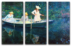 women fishing by Monet Split Panel Canvas Print - Canvas Art Rocks - 4