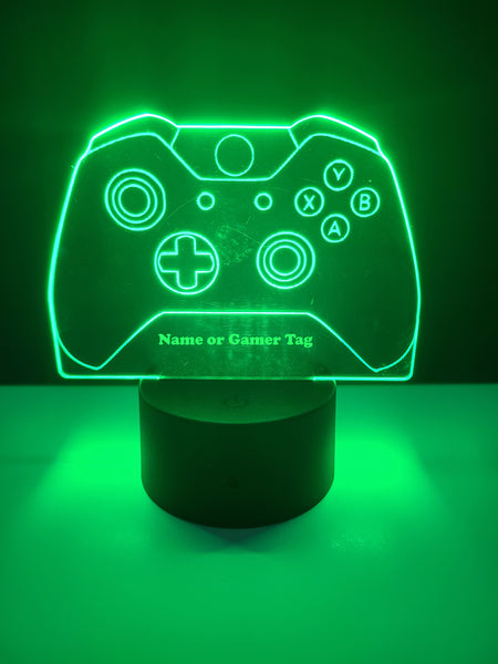 Laser Cut and Engraved Xbox Style Controller LED Light Can Be Personalized