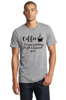 Coffee because punching people in the face is frowned upon funny T-shirt