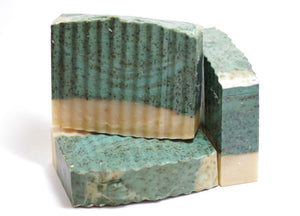 Crushed Mint + Basil Scrub  Essential Oil Soap