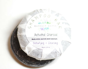 shampoo bar. activated charcoal shampoo bar. pH balanced shampoo bar.