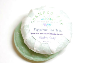 shampoo bar. healthy scalp shampoo bar. peppermint tea tree shampoo bar.