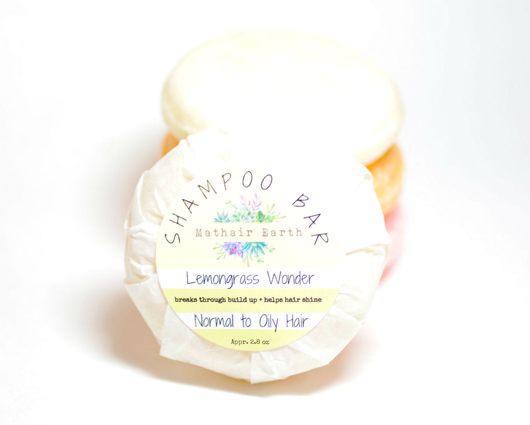 shampoo bar. lemongrass wonder shampoo bar. pH balanced shampoo bar.