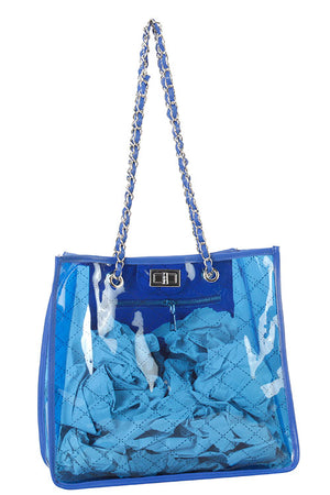 Designer Clear Tote Bag