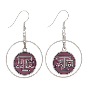 Texas A&M Dangling Charm Earrings